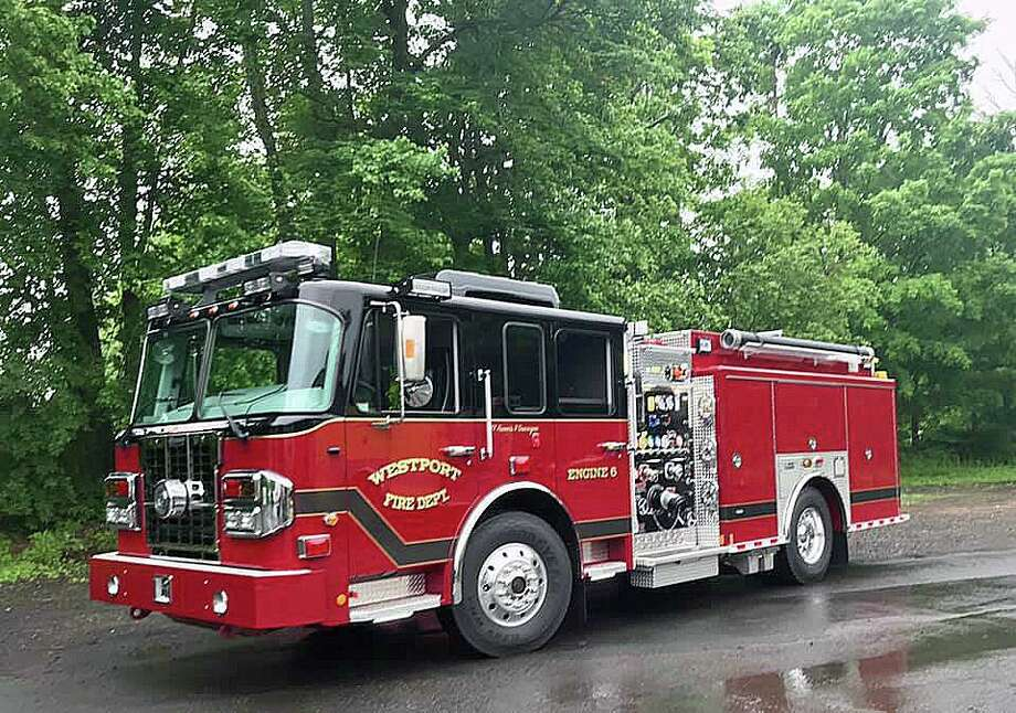 A file photo of a Westport, Conn., fire engine. Photo: Contributed Photo / Westport Fire Department