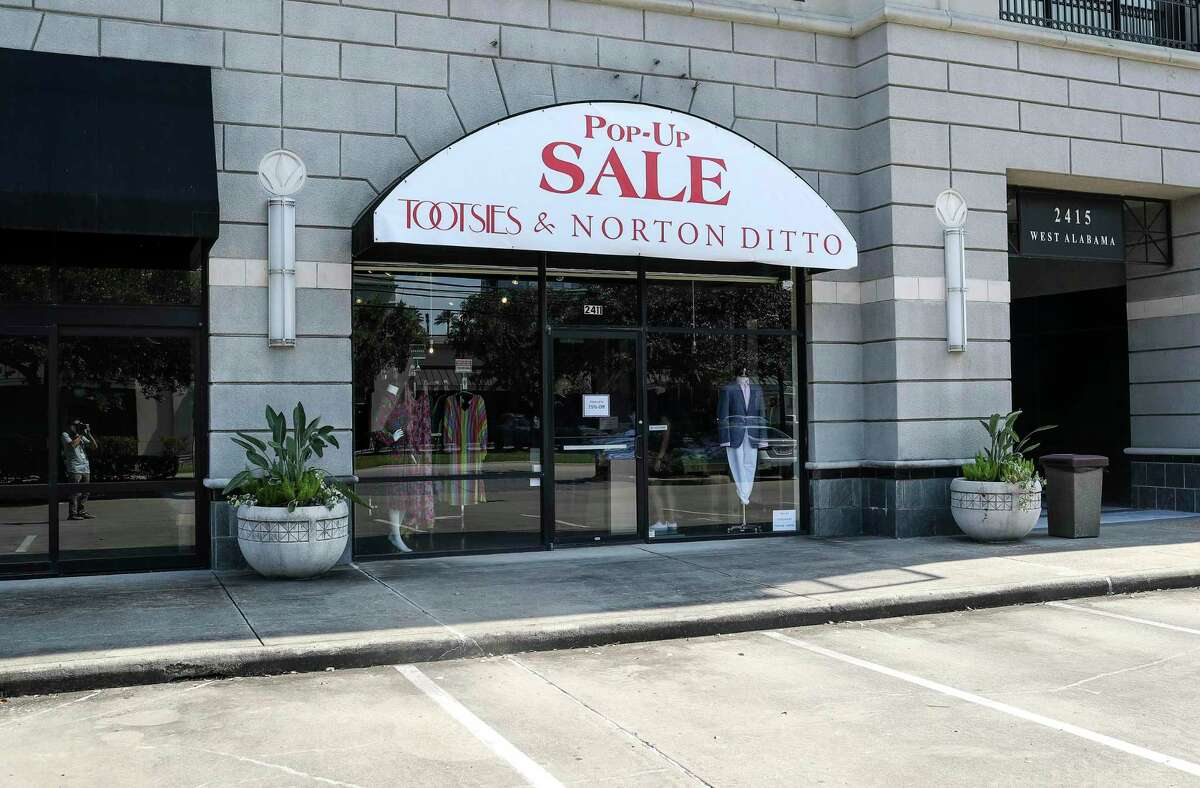 A Tootsies and Norton Ditto pop-up sale, Thursday, Aug. 6, 2020, in Houston.
