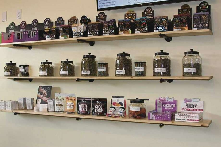 This photo shows some of the offerings of Great Lakes Natural Remedies from its Benzonia location that is already open. The business has plans for an adult-use and medical center in Manistee as well. Photo: File Photo
