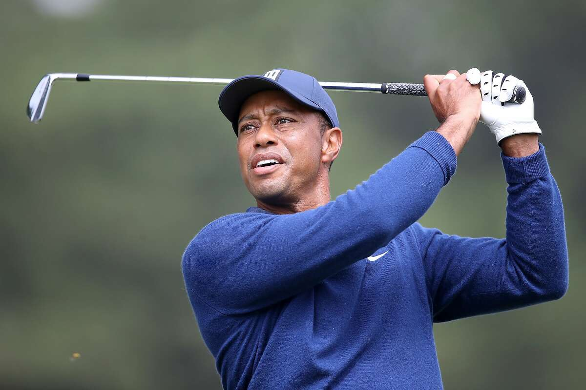 SAN FRANCISCO, CALIFORNIA - AUGUST 06: Tiger Woods of the United States plays a shot from the third tee during the first round of the 2020 PGA Championship at TPC Harding Park on August 06, 2020 in San Francisco, California. (Photo by Sean M. Haffey/Getty Images)
