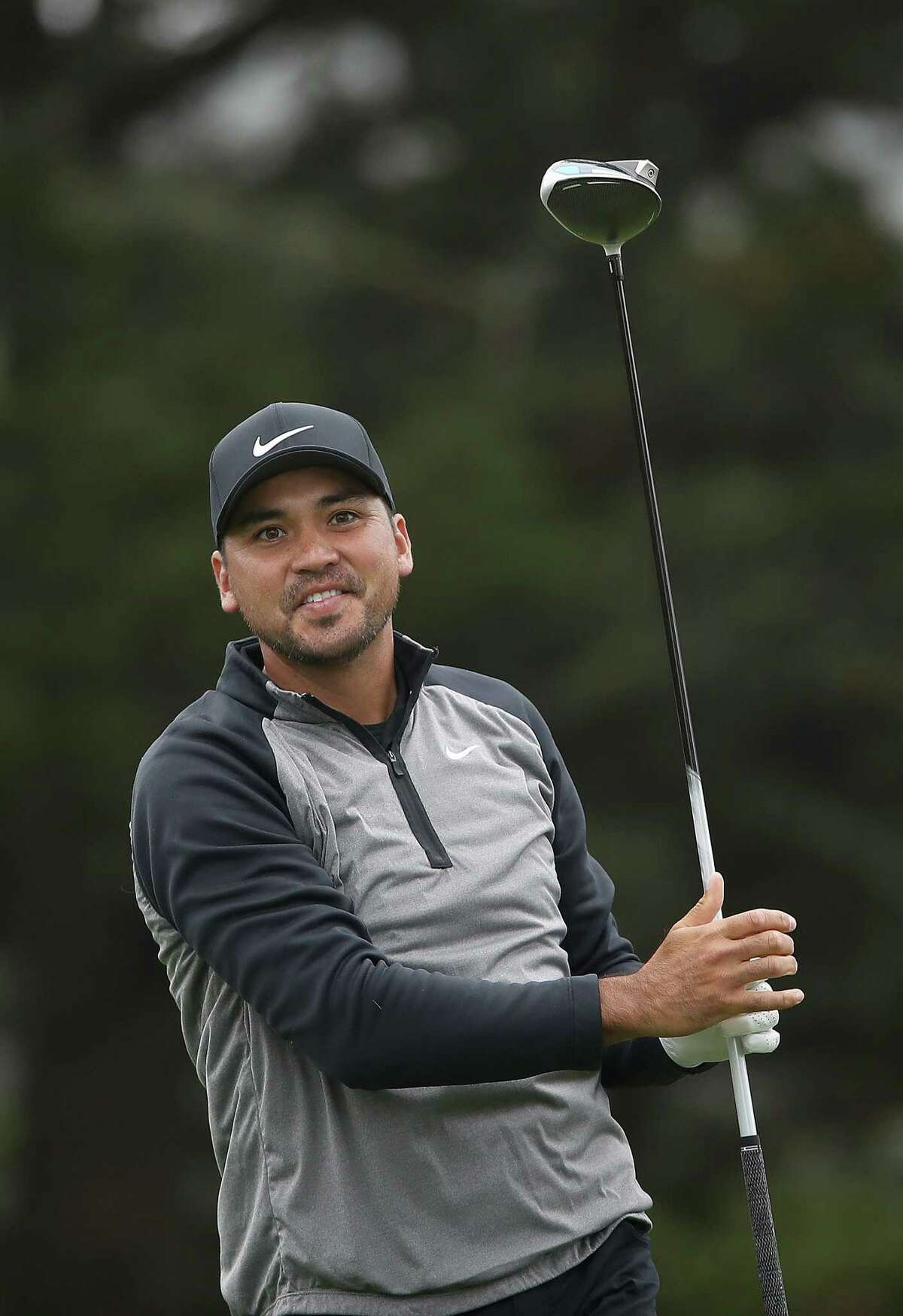 SAN FRANCISCO, CALIFORNIA - AUGUST 04: Jason Day of Australia plays his shot from the 14th tee during a practice round prior to the 2020 PGA Championship at TPC Harding Park on August 04, 2020 in San Francisco, California. (Photo by Sean M. Haffey/Getty Images)