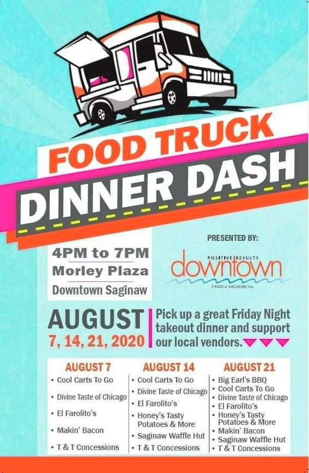 Friday, Aug. 7: Food Truck Dinner Dash from 4 to 7 p.m. in Morley Plaza, downtown Saginaw. Pick up a great Friday Night takeout dinner from a variety of local food vendors. (Photo provided)