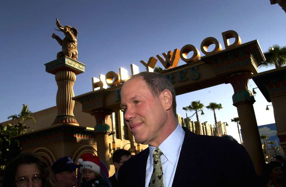 Michael Eisner, CEO and chairman of the Walt Disney Company, attends the public grand opening of ''Disney's California Adventure'' theme park on February 8, 2001. Photo: David McNew/Getty Images