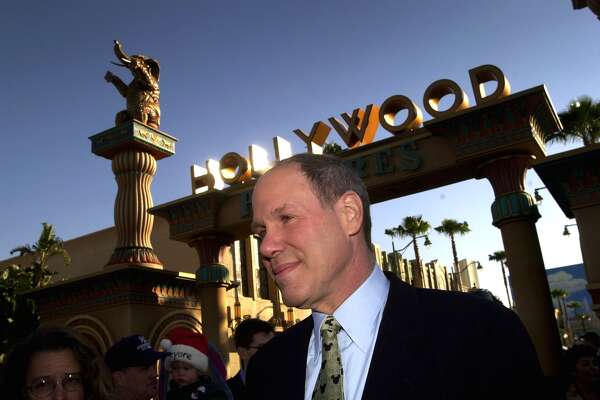 Michael Eisner, CEO and chairman of the Walt Disney Company, attends the public grand opening of ''Disney's California Adventure'' theme park on February 8, 2001.