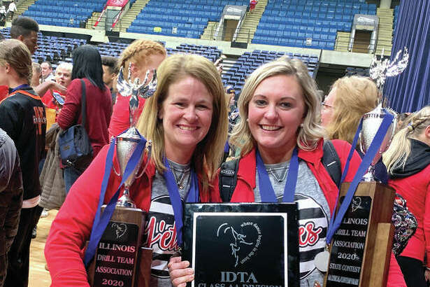 Jacksonville High School J'ettes dance team coaches Tiffany Hickox (left) and Allyson Maul have joined a petition opposing a COVID-19-related plan to put dance teams in the same category as high-contact sports such as football, wrestling and boxing.