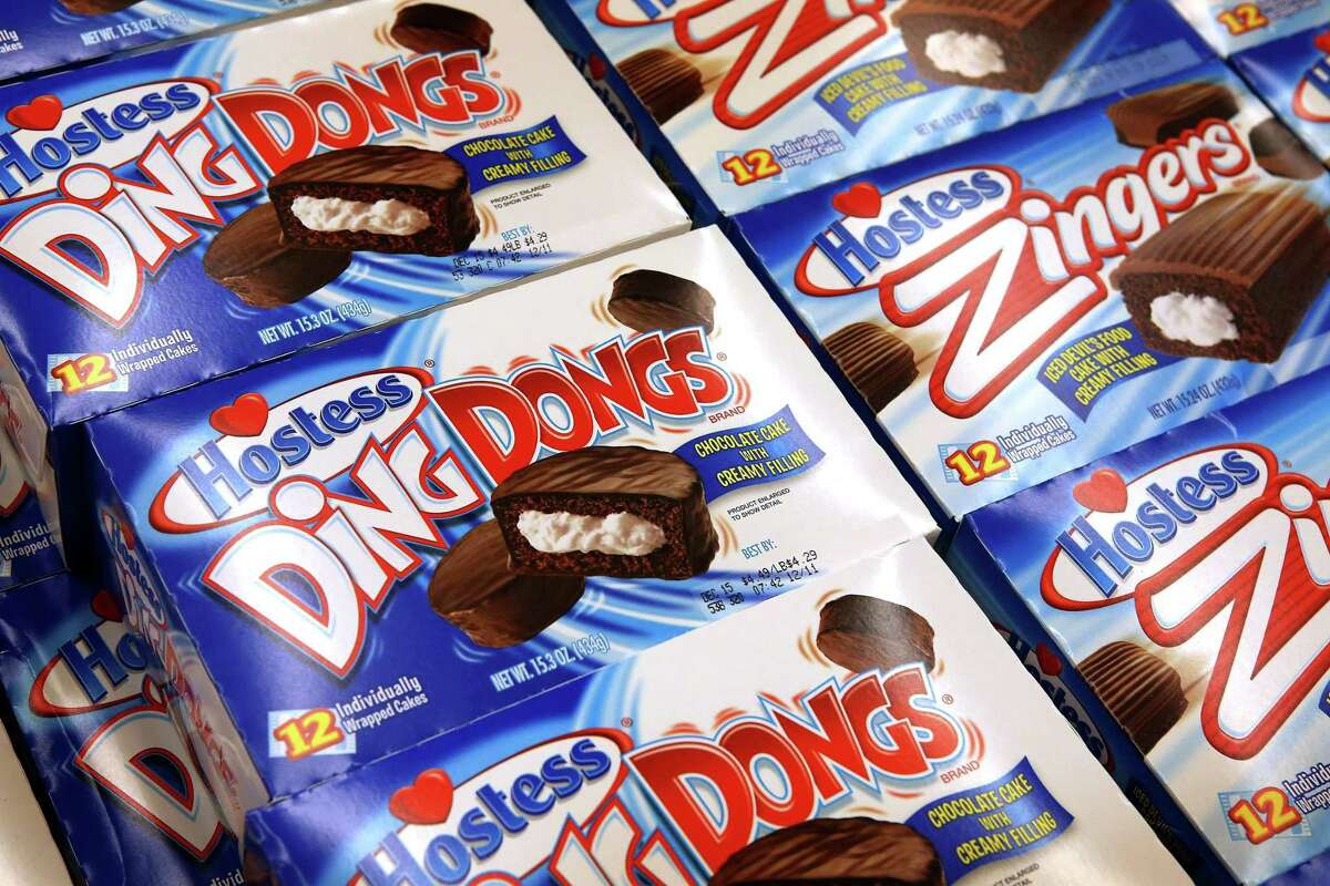 Boxes of Hostess Ding Dongs.