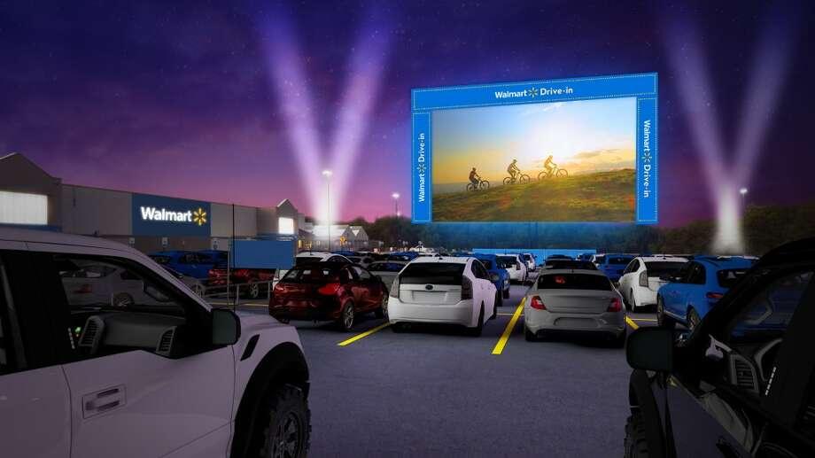 Walmart is bringing its drive-in movie tour to San Antonio in September. Photo: Walmart