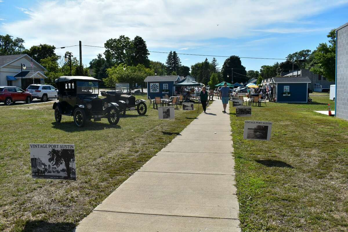 Port Austin Village Green hosted a 1920s lawn party August 6, one of their many summer Theme Thursday events meant to encourage mid-week support of local businesses. Their 1920s event included live music, a Good Humor Bar, photo booth, and a secret code used for discounted purchases.