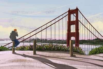 Golden Gate Bridge in San Francisco at morning