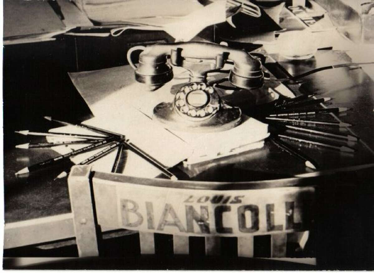 The journalism desk of Louis Biancolli, Amy Biancolli's father. (Courtesy: Amy Biancolli)