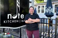 """Calin Sauvron, executive chef at Note Kitchen & Bar in Bethel, and at Notch 8, also in Bethel, is a """"Chopped"""" champion, after winning the competition on the episode titled """"Quail Without Fail,"""" which aired July 28. The Food Network series pits four chefs against each other; each receives three baskets of mystery ingredients and must come up with dishes on the spot. Sauvron won after creating a tostada appetizer, a stuffed quail entrée and a cheesecake. The series airs Tuesdays at 9 p.m."""