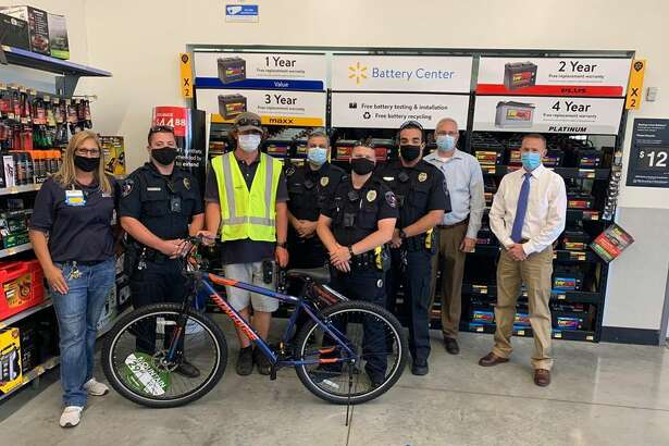A Cibolo man was gifted a new bicycle by the Cibolo Police Department after his was stolen outside a local Walmart.