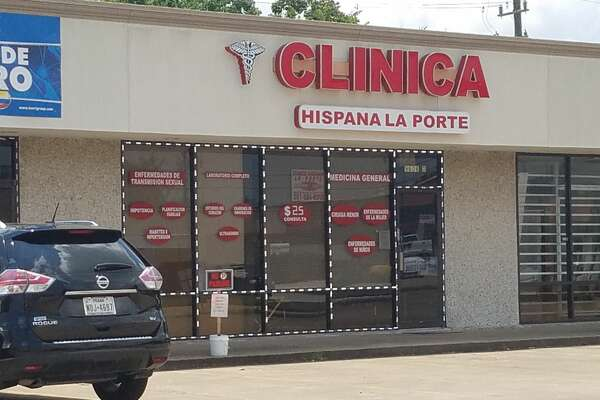 "The Clinica Hispana La Porte is seen with a ""closed"" sign on Friday, August 7. (Kirk Sides/Staff Photographer)"