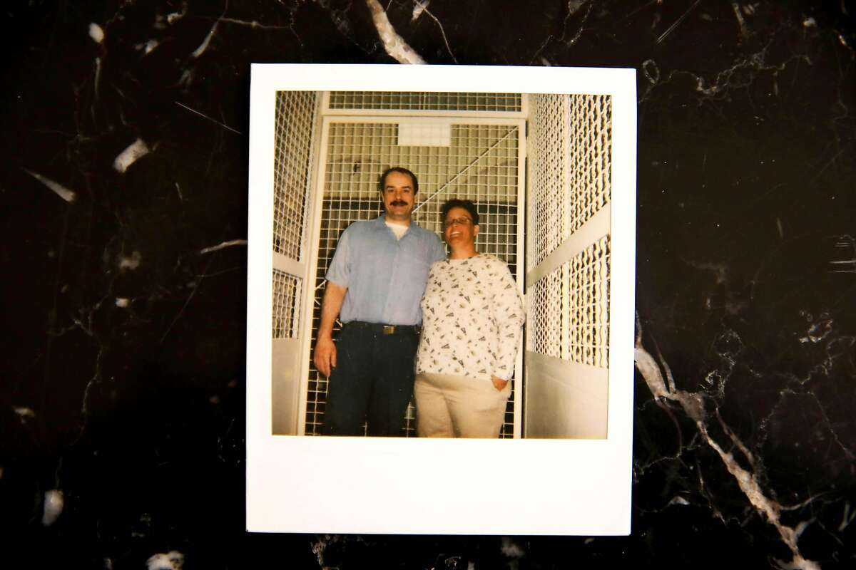 In this undated image, Keith Doolin, right, poses for a photo with his sister Shana Doolin; rephotographed on Tuesday, August 4, 2020, in Redding, Calif. Currently, Keith Doolin is a 47-year-old death row inmate at San Quentin State Prison. His mother Donna Larsen works on Keith's case every day and has 76 boxes of post-conviction evidence.