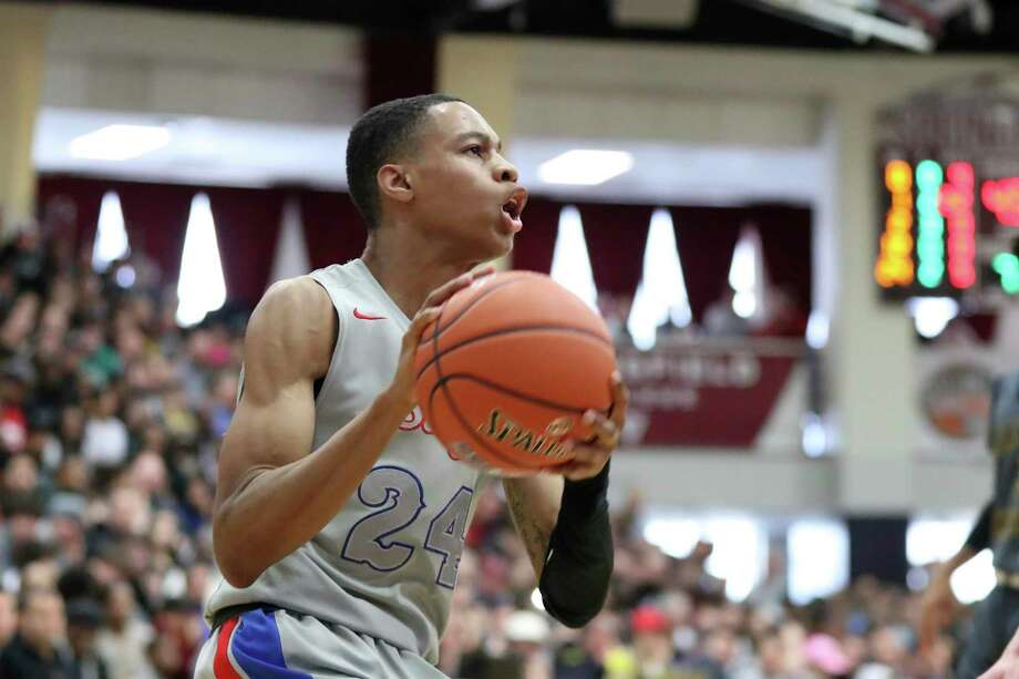 DeMatha's Jordan Hawkins committed to UConn on Friday. Photo: Gregory Payan / AP / Copyright 2020 The Associated Press. All rights reserved.