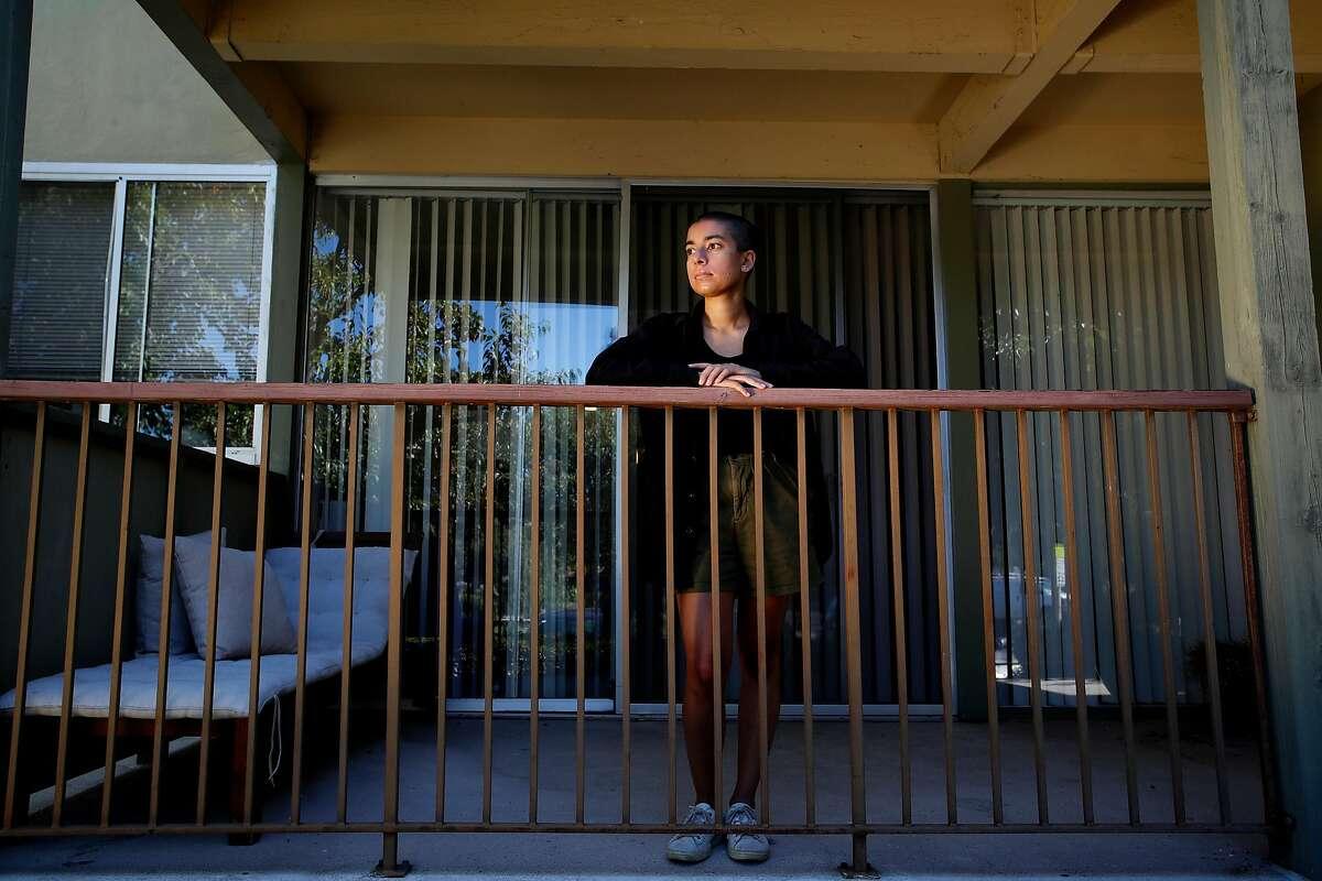 Portrait of Stanford University PHD graduate student Gitanjali Bhattacharjee, shot on off- campus university housing in Palo Alto, California, on Friday, August 7, 2020.