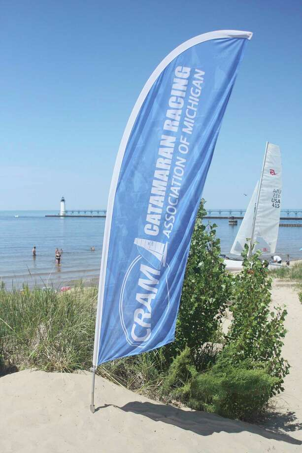 The Catamaran Racing Association of Michigan is making its annual visit to Manistee this weekend, with races being held Saturday and Sunday. (Dylan Savela/News Advocate)