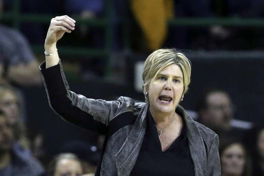 FILE - In this Jan. 25, 2020, file photo, Texas Tech head coach Marlene Stollings reacts to a play in the second half of an NCAA college basketball game against Baylor in Waco Texas. Texas Tech women's basketball players have accused Stollings and her staff of fostering a culture of abuse that led to an exodus from the program, according to a report published Wednesday, Aug. 5, 2020, in USA Today. (AP Photo/Rod Aydelotte, File) Photo: Rod Aydelotte/Associated Press / Copyright 2020 The Associated Press. All rights reserved