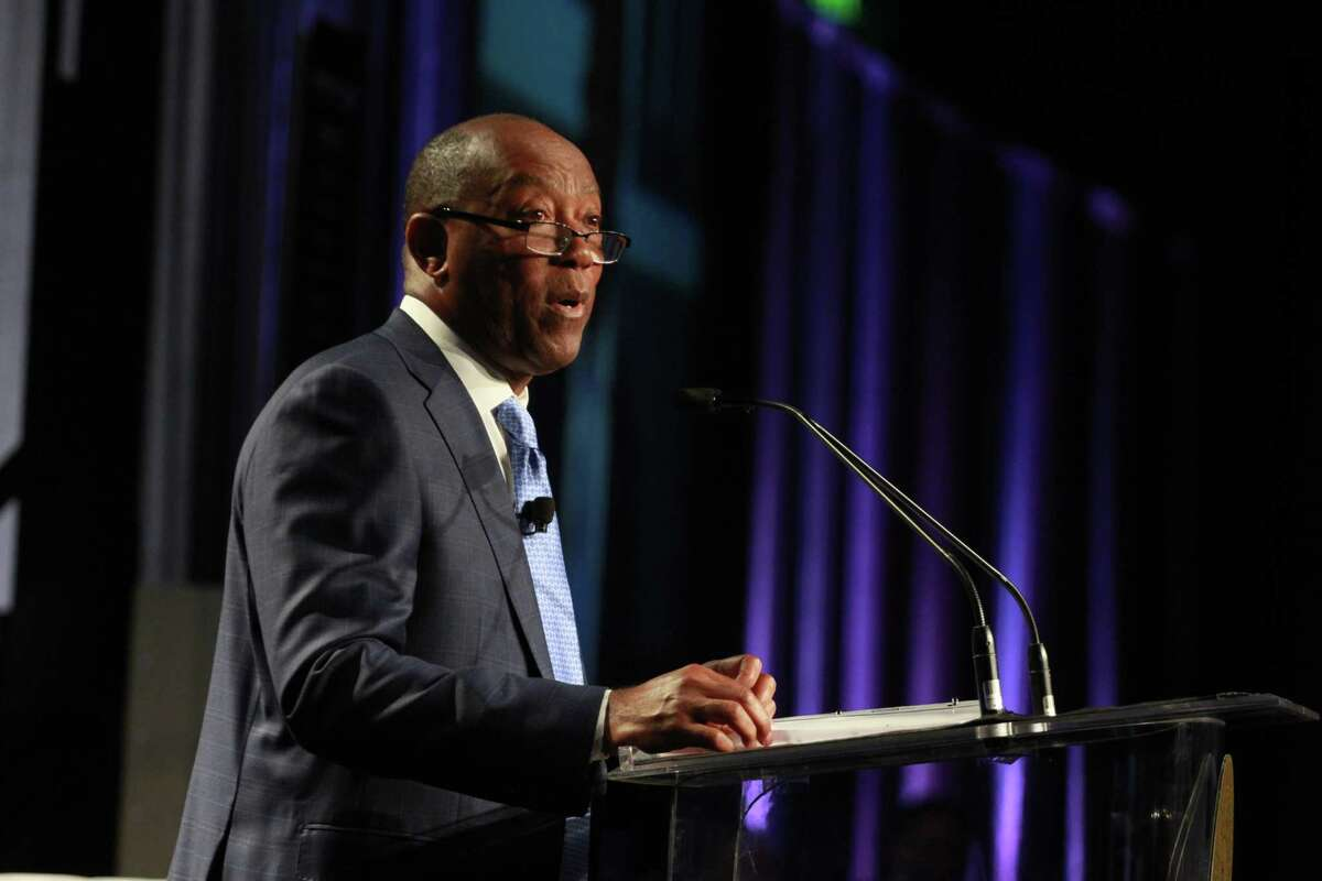 Mayor Sylvester Turner speaks during his annual State of the City address on Monday, May 20, 2019.