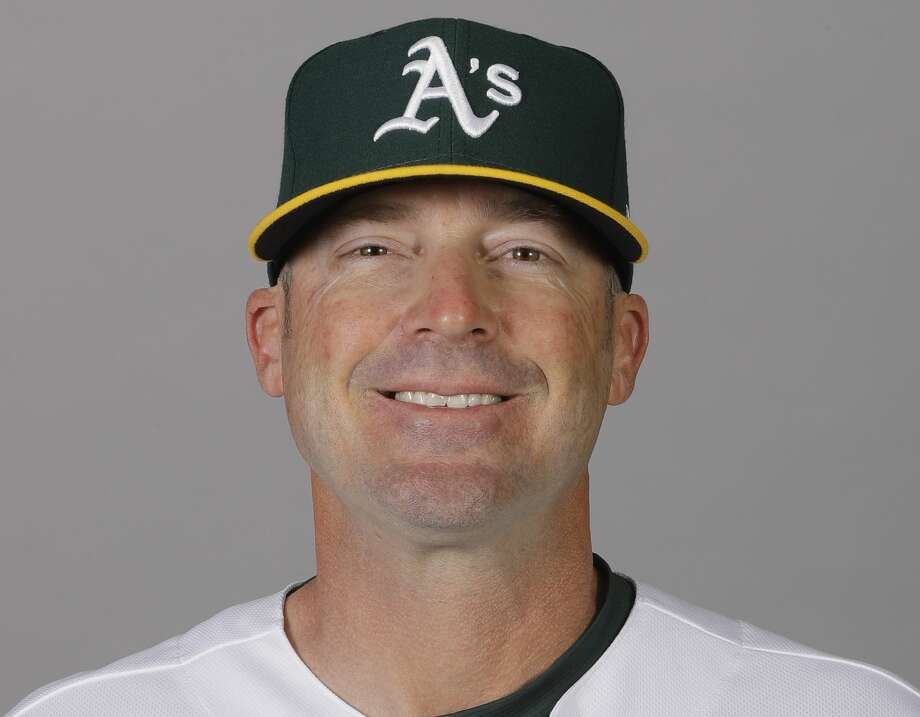 FILE - In this Feb. 20, 2020, file photo, Ryan Christenson, of the Oakland Athletics baseball team, poses for a photo in Mesa, Ariz. Major League Baseball has been in touch with the Athletics about bench coach Christenson making a gesture that appeared to be a Nazi salute following a win over the Texas Rangers. There has been no discipline announced against Christenson. He has apologized for raising his arm during a postgame celebration Thursday, Aug. 6, 2020. The team is giving him the benefit of the doubt that he intended no harm. (AP Photo/Darron Cummings, File) Photo: Darron Cummings/Associated Press / Copyright 2020 The Associated Press. All rights reserved