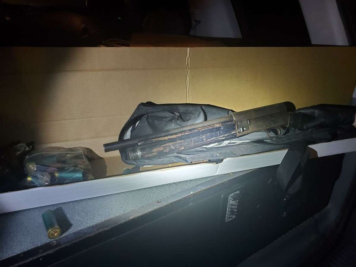 The gun found in the vehicle driven by Paul Witherspoon, according to police.