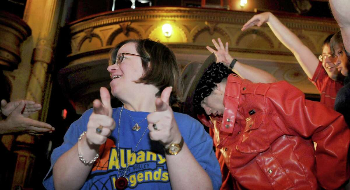 Lauren Williams, shown participating at a play at the Cohoes Music Hall, is among the employees at the Center for Disability Services mail fulfillment center who are losing their jobs after the state decided to cut costs by canceling a $55 million contract. (Times Union archive)