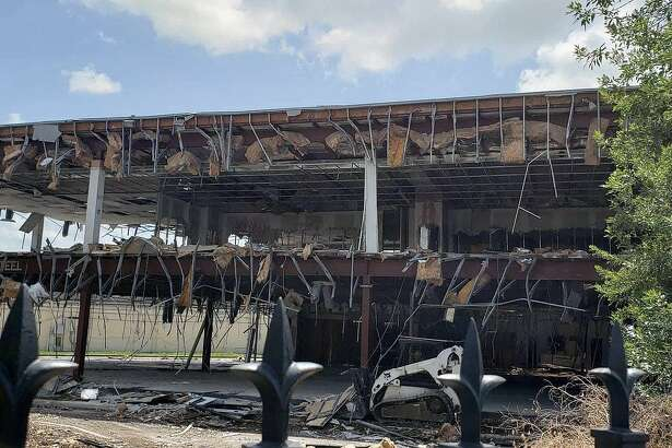 After years of mounting complaints and calls made to law enforcement and the fire marshal, the Mill Creek Office Building at 4702 FM 1960 W has finally met the wrecking ball and was razed last week.