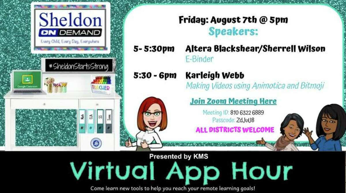 """Two teachers in Sheldon ISD have brought """"Appy Hour"""" to life, an online virtual meet up for teachers in their district and others using the Google classroom platform to learn the basics behind the system as they prepare for the upcoming school year."""