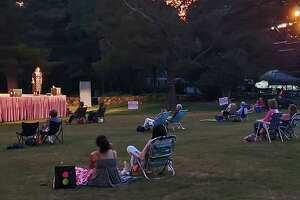 """The audience at """"Shakespeare on the Green"""" at Sterling Farms Golf Course in Stamford, Connecticut, maintained required 15-foot distances on July 26, 2020."""