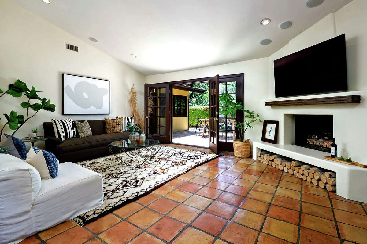 Actress Eliza Dushku listed her Hollywood Hills home of more than a decade for $1.849 million. The yellow-hued residence, which combines Spanish and contemporary details, has three bedrooms in about 1,750 square feet of space. (Hilton & Hyland)
