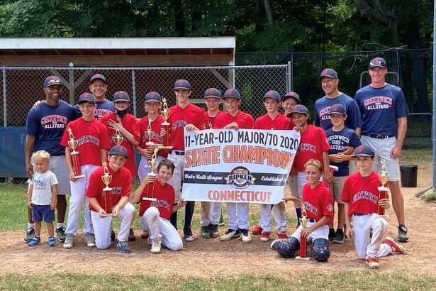 The Greenwich 11-year-old Cal Ripken All-Stars pose for a picture after winning the state championship.