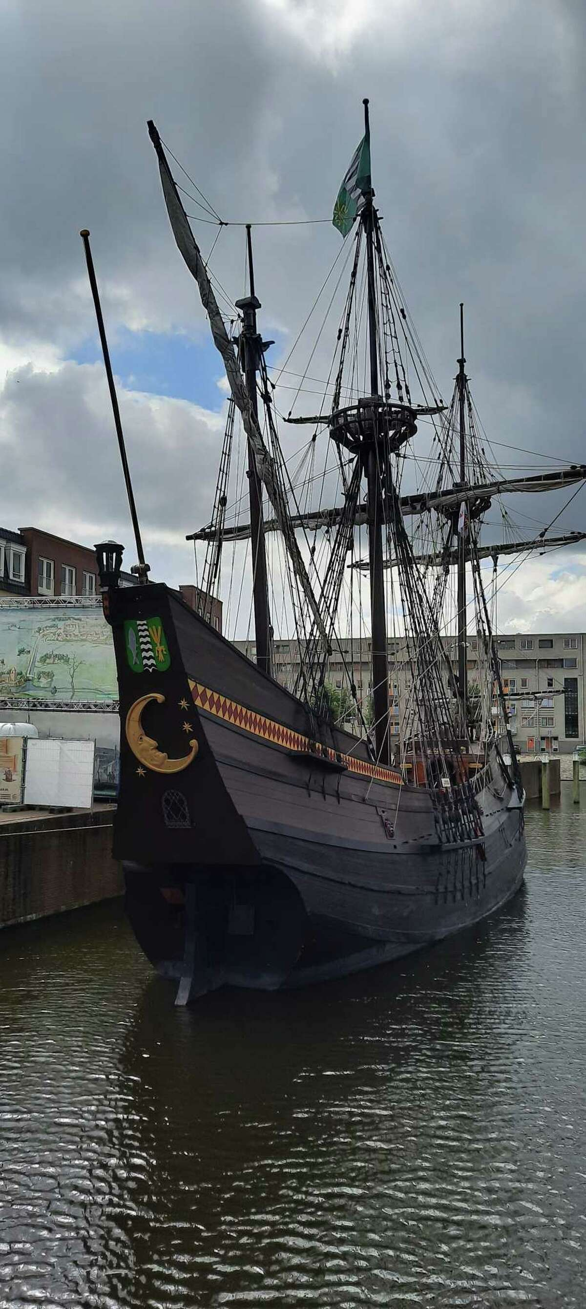 On a recent trip to Delfshaven (part of Rotterdam) the Netherlands, Marietta Velvis of Delmar was surprised to come upon a familiar site from the Hudson Valley: The Half Moon, or Halve Maan, in Dutch. She said the replica of Henry Hudson's ship was sold to the Westfries Museum in the Dutch city of Hoorn about five years ago