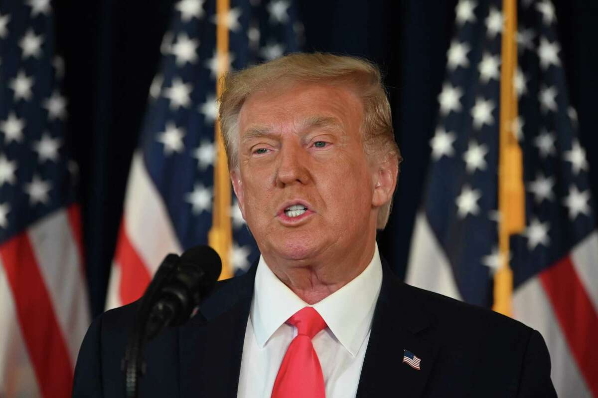 US President Donald Trump speaks during a news conference in Bedminster, New Jersey, on August 8, 2020. (Photo by JIM WATSON / AFP) (Photo by JIM WATSON/AFP via Getty Images)
