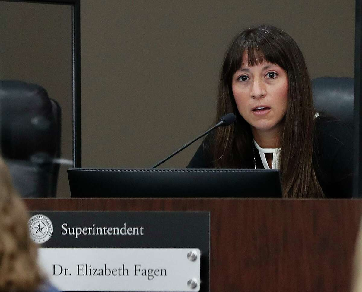 Humble ISD Superintendent Elizabeth Fagen in August 2020. On Tuesday, she said since campuses have reopened, evidence shows that bringing students back to campuses has not caused a spike in infections some had feared.