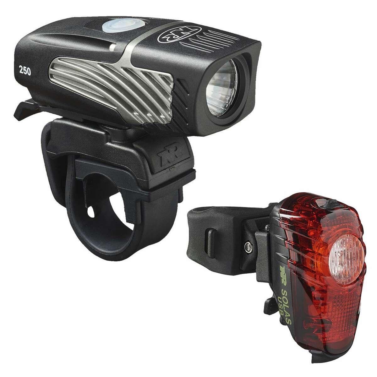 NiteRider Lumina Micro 250 USB LED Headlight and Solas 30 Lumen USB Tail Light: $80 BUY NOW If you're the type to squeeze in an after-work bike ride right around sunset, be smart. Attach this USB-rechargeable, LED-powered set from NiteRider to the front and rear of your ride - in case you ever get stuck out in the dark, passerby on the road will clearly see you coming. More: The Best Cycling Gear On The Market