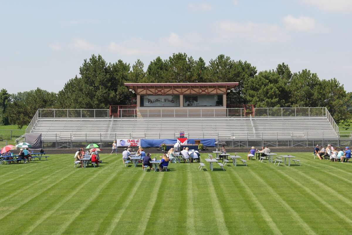 The Unionville-Sebewaing Area School District finally held it's 2020 graduation out on the school's football field over the weekend. The ceremony was followed by a parade through Unionville and Sebewaing.