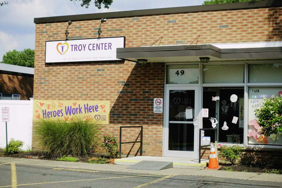 A view of the Troy Center for Rehabilitation and Nursing on Sunday, Aug. 9, 2020, in Troy, N.Y. (Paul Buckowski/Times Union)