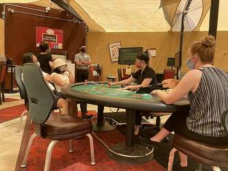 Distanced Blackjack And Poker First Outdoor California Cardroom Reopens