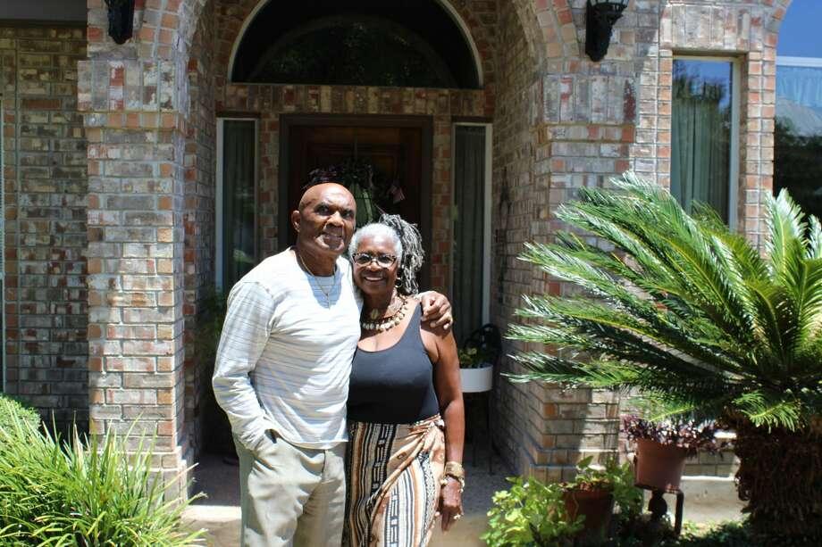Gracie and Thomas Poe live in the Stone Canyon subdivision in Stone Oak. Photo: Lisa Harrison Rivas