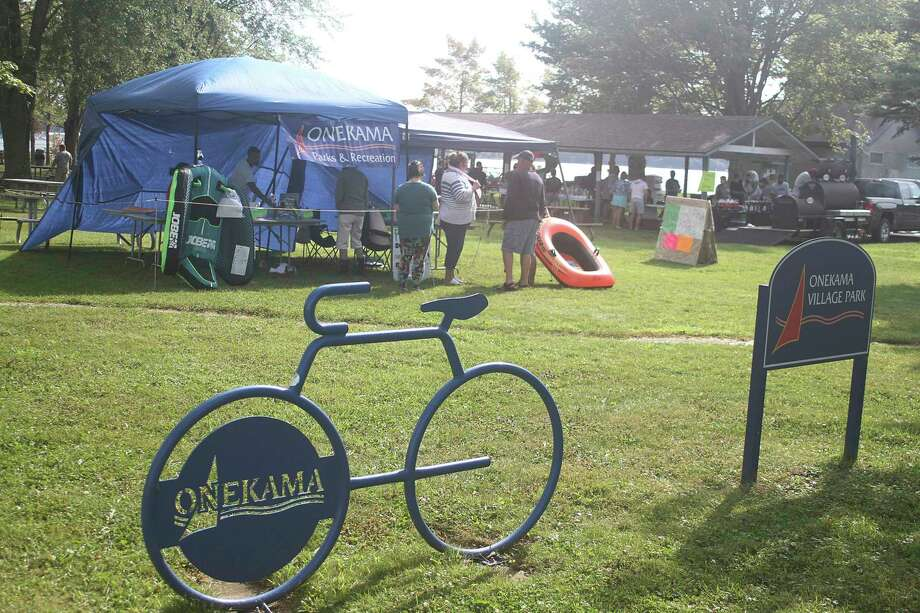Several events were held in the village park for Onekama Days Lite. (Dylan Savela/News Advocate)