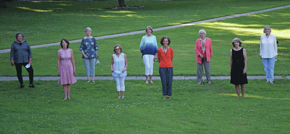 Ladies Education Society members include Laura Marks (from left), Janet Chipman, JoAnn Nelson, Addie Coultas, Suzanne Verticchio, Karen Sibert, Emily Osburn, Martha Varble and Pat Bone.