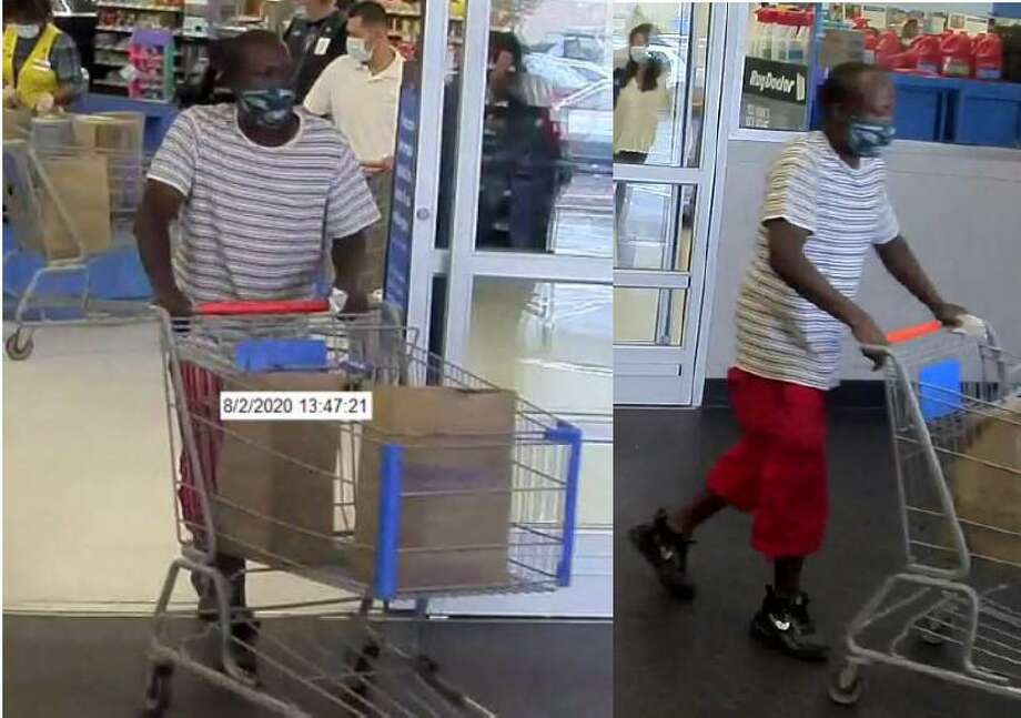 The Norwalk Police Detective Bureau is requesting the public's assistance in identifying this person that used a stolen credit card at Walmart on Connecticut Avenue at 1:45 p.m. on Sunday, Aug. 2, 2020. Photo: Norwalk Police Department Photo
