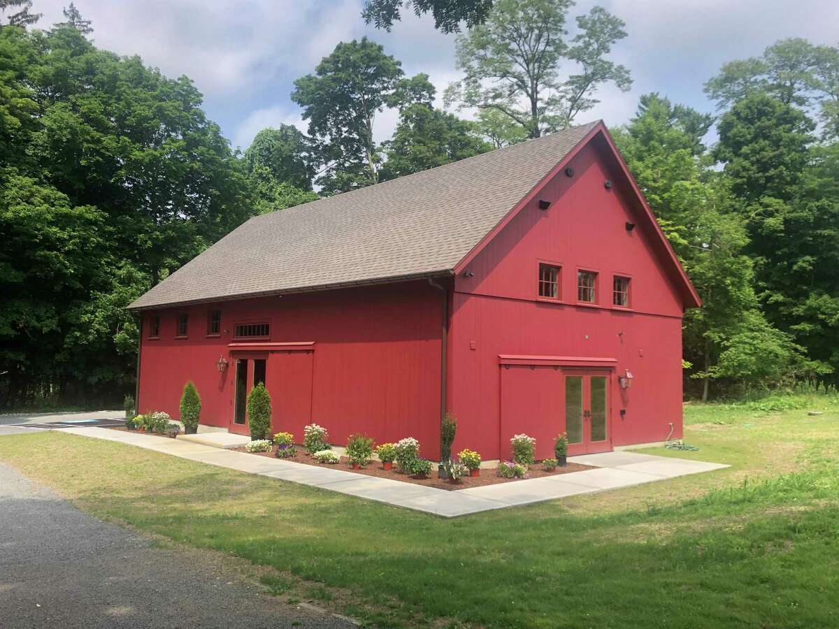 The new Elizabeth W. Chilton Education Center staged with the plantings courtesy of Gregg's Garden Center in New Canaan.