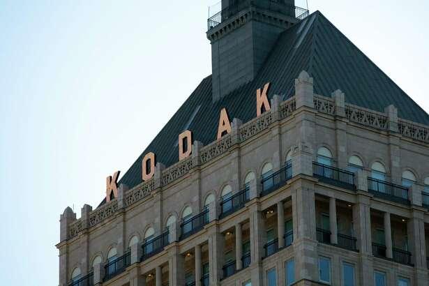 Kodak Tower at the Eastman Kodak headquarters complex in Rochester, N.Y., on Aug. 1, 2020.