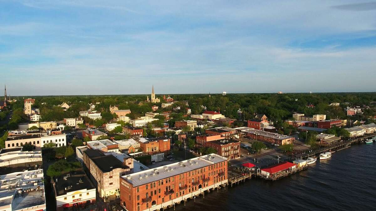 The Wilmington riverfront and historic downtown is a popular tourist destination.