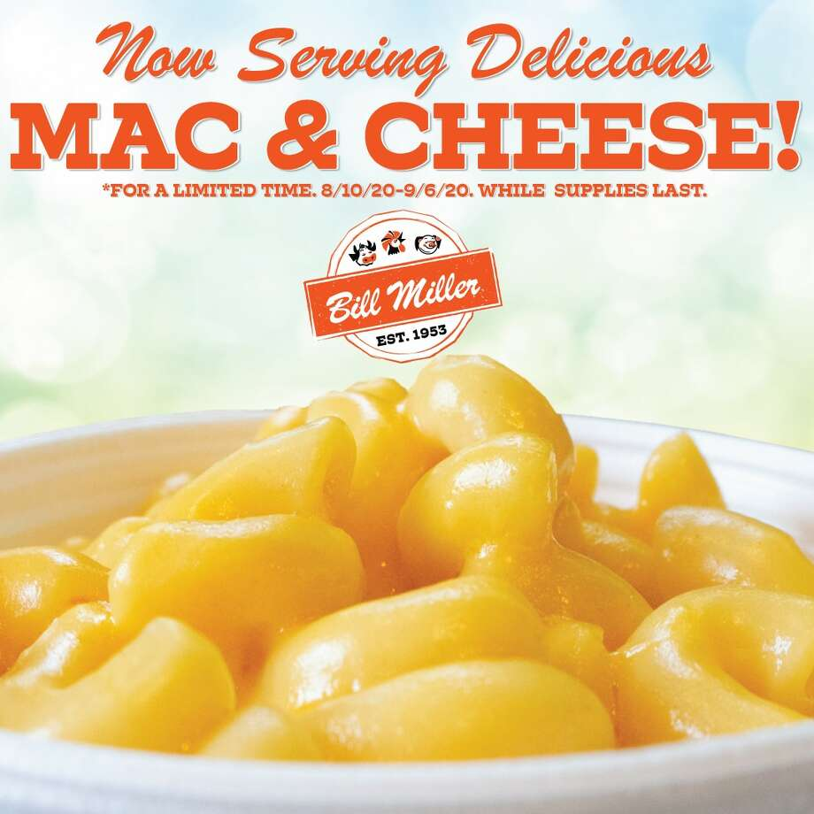 The San Antonio-based chain announced Sunday that mac and cheese will make a cameo on its menu at all locations starting Monday and will be available until Sept. 6. Photo: Courtesy, Bill Miller