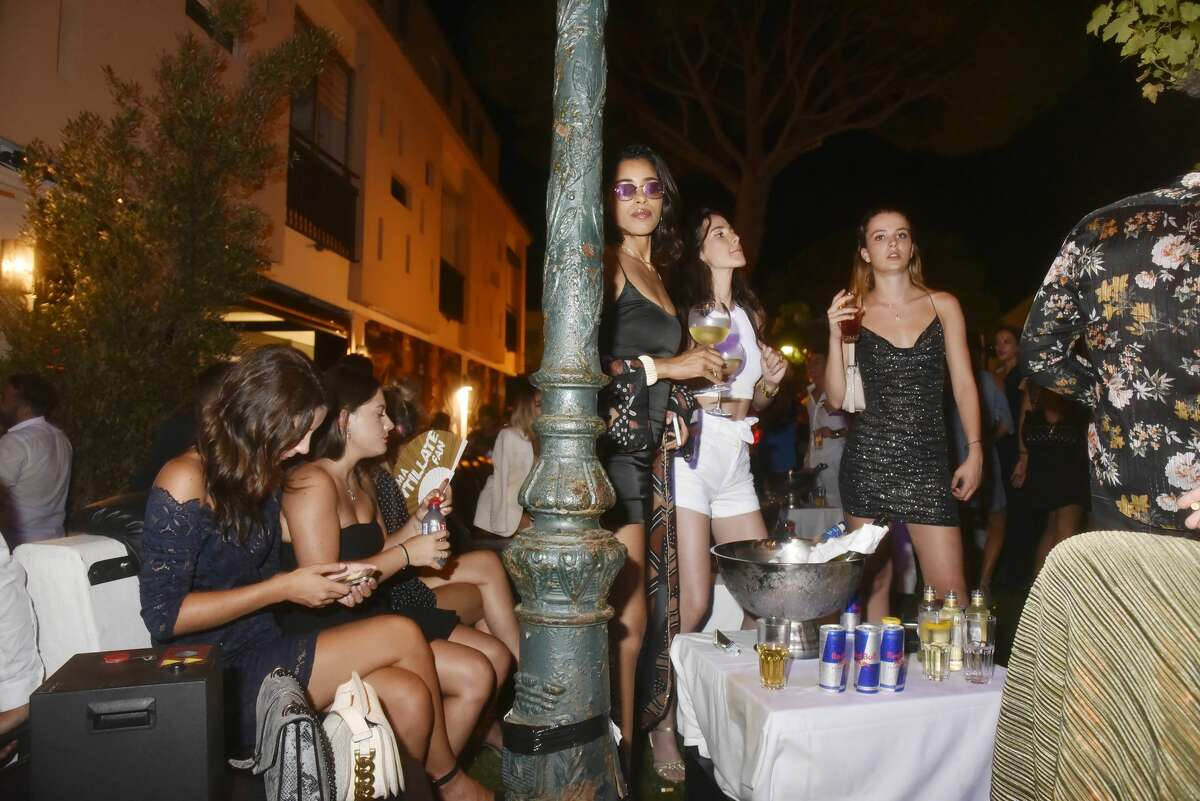 A general view of atmosphere`during the VIP Room Gioia Restaurant Party on July 28, 2020 in Saint Tropez, France.