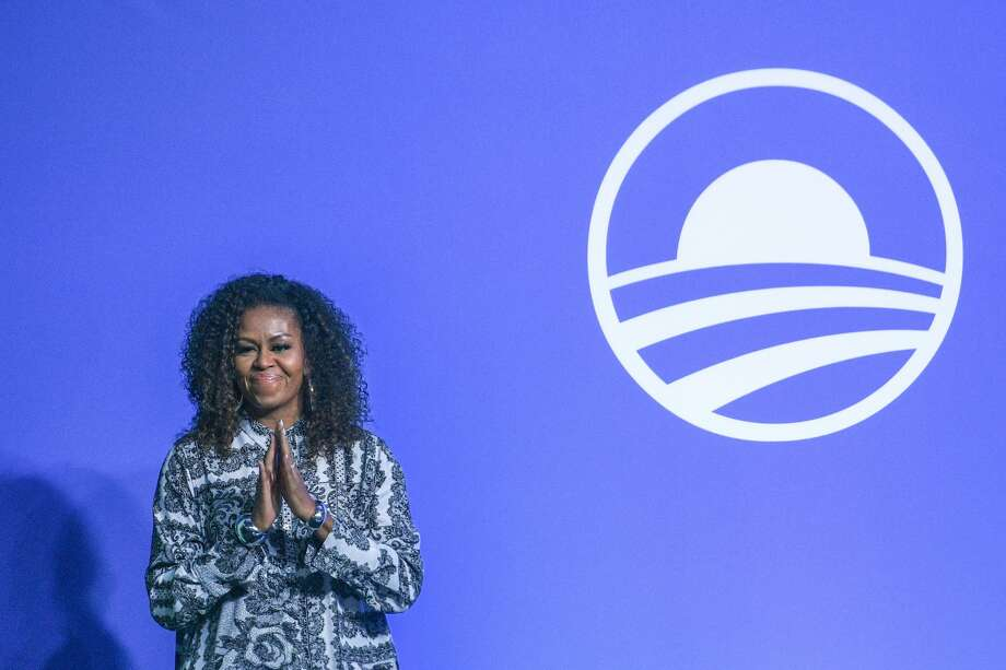 Former US first lady Michelle Obama has released a playlist to accompany her new podcast, The Michelle Obama Podcast. Photo: MOHD RASFAN/AFP Via Getty Images