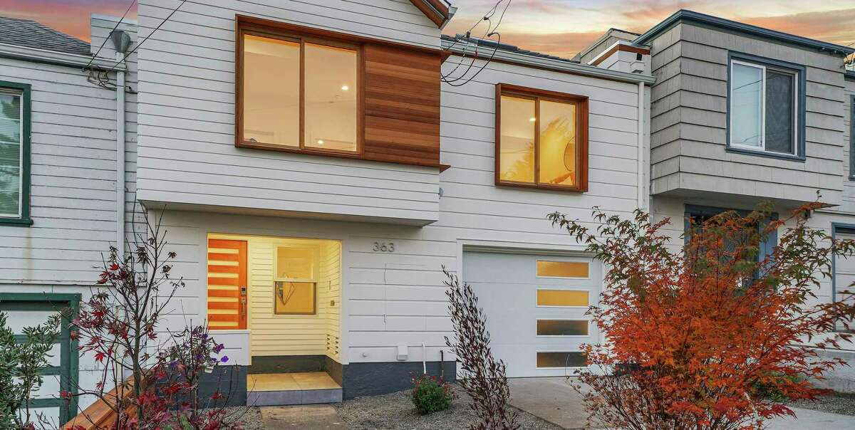 San Francisco-based architect Tomer Maymon added timber flourishes to the facade of this recently remodeled home on Bright Street in Ingleside Heights.