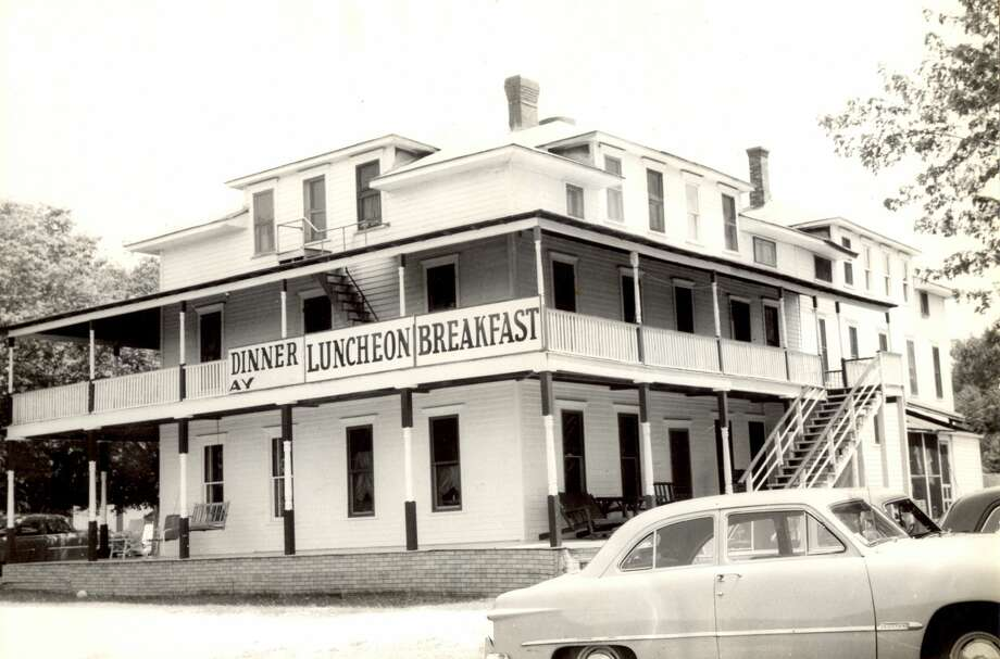 A look at the Lakeview Hotel  in 1954. The hotel, formerly located at 4727 Main Street in Onekama, opened in 1911 and was torn down in the summer of 1960. Photo: Manistee County Historical Museum Photo